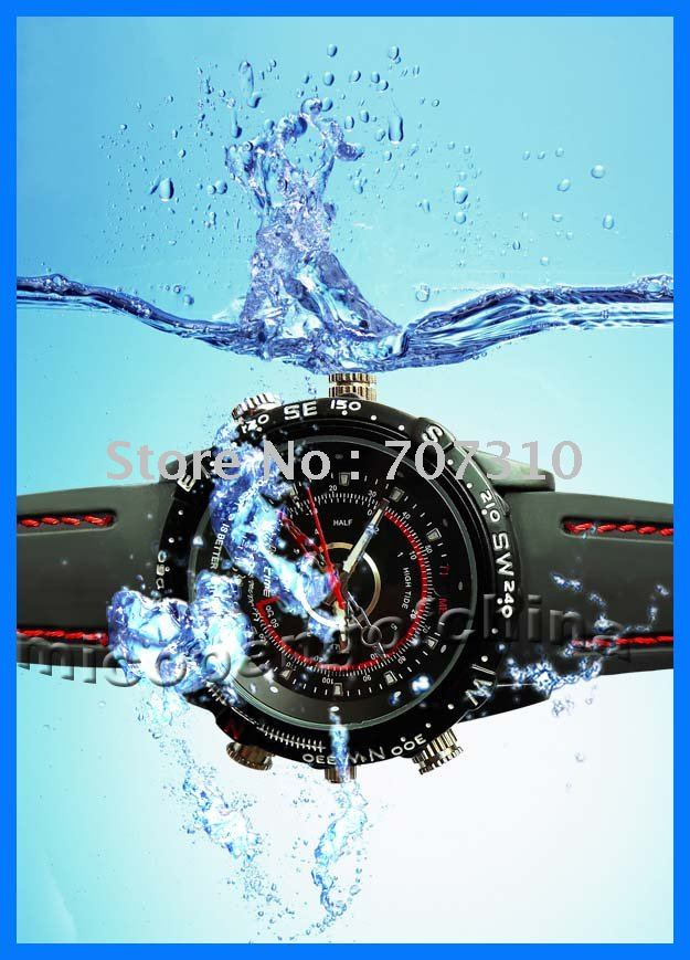 FREE SHIPPING NEW 8GB 30FPS 1280*960 VGA USB Camera waterproof Watch Record Video photo 007(China (Mainland))