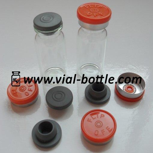 10ml serum vial+ flip off caps+ rubber stopper 100 pieces/lot free express delivery door to door worldwide(China (Mainland))