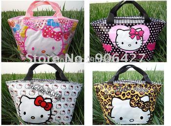 4PCS New Hello kitty cute lunch bag Girls Handbag#10