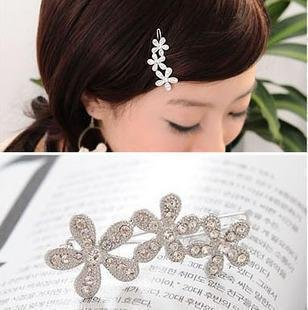 Club Hair Accessories,Hair Clips hair barrettes with rhinestone,Top Quality Charm Hair Ornaments 24 pcs free shipping(China (Mainland))