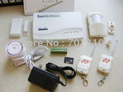FREE DHL SHIPPING Wireless Home House GSM Security Burglar Alarm System (LS-GSM-004)(China (Mainland))