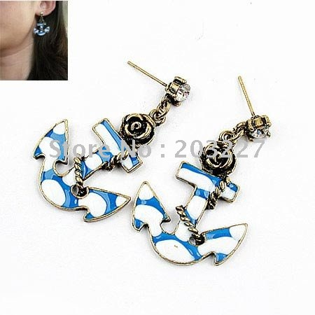 Chic Spike Ear Cuff Water droplets Earring NO PIERCING Gothic Punk Fancy Dress vintage earrings 12 Pcs/lot Free Shipping