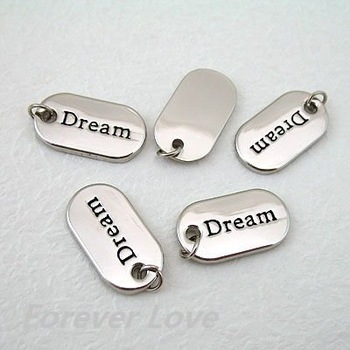 FREE SHIPPING--30PCS Silver Alloy Charm Scrapbooking Craft DIY Decor [Dream] Wedding favour Party Decoration