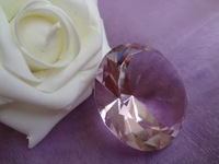 "FREE SHIPPING--2"" 5cm Pink BIG Crystal Diamond Wedding favour Party Favor Decoration New arrinval"