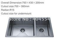 Stainless Steel Sink  Kitchen Sink 7543 Factory Supply