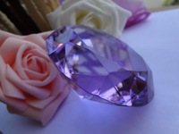 "FREE SHIPPING--1.5"" 4cm Lavender BIG Crystal Diamond Wedding favour Party Favor Decoration New arrinval"