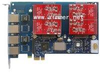 AEX410 4 ports with 4FXO module PCI express Asterisk card for trixbox elastix