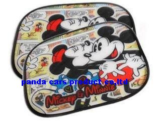 New Arrival mickey Car Side Window Screen Sun Shades /CAR SUN SHADE Mesh Network 20pcs/lot Wholesale Free shipping(China (Mainland))