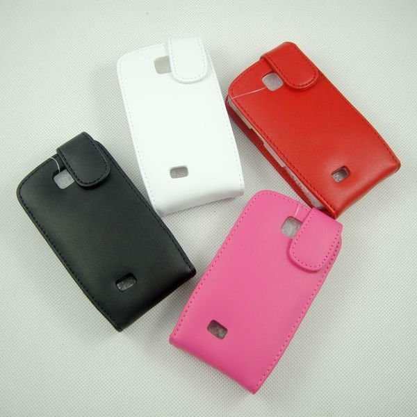 Free Shipping Leather Flip Housing Holster Case Pouch for Samsung Galaxy Mini S5570(China (Mainland))