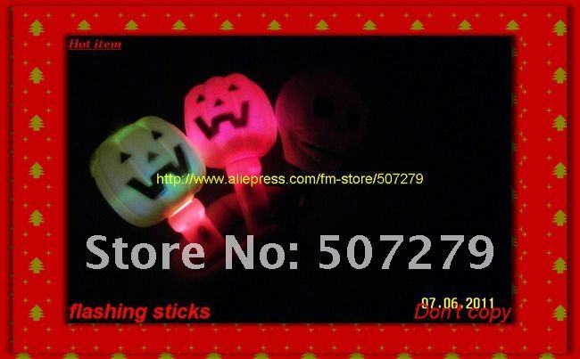 promotion stick. halloween gifts flashing stick,light up stick,glowing stick,factory sell directly battery include(China (Mainland))