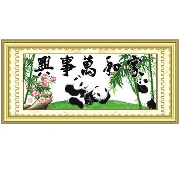 Cross Stitch Family Harmony (Panda II)