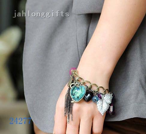 New Arrival! High Grade Womens Charm Braclets Jewelry Bohemia Style Bangle Birthday Gifts 30pcs/lot Free Shipping(China (Mainland))