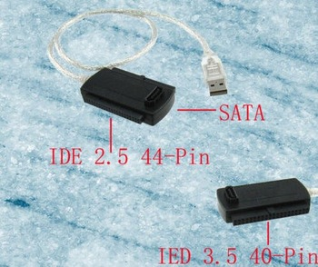 50pcs/lot  USB 2.0 to IDE SATA S-ATA/2.5/3.5 Adapter Cable USB 2.0 to IDE DVD/CD-Rom 2.5 3.5 hard disk HDD Cable