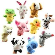 Freeshipping!Wholesale,Baby Plush Toy,Finger Puppets,Hand Puppets,100pcs/lot(China (Mainland))