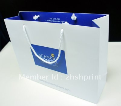 Company advertising white paper bag(China (Mainland))
