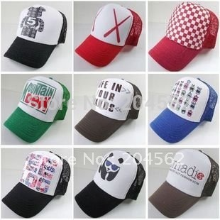 Free shipping+2011+Style variety/Summer heat nets cap/unisex baseball cap(China (Mainland))
