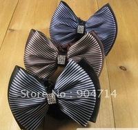 Female occupations hair string bag/korea Flight attendants ribbon bow hair string bag/ribbon bow hair net/fringe diamond/3 color