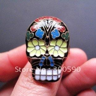 New  Arrival  ! Retro Peking opera Face Spectrum Skull rings  .60pcs /lot.Free shipping