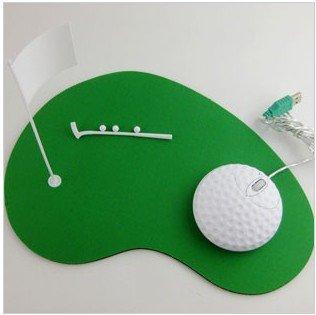 PROMOTION+novelty item/Golf ball optical mouse/gift mouse Golf Laptop PC Mouse&Mouse mat set retail 1pcs