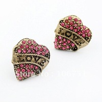 edition melting temperament peach heart stud