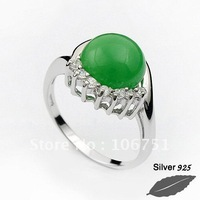 silver ring-SR03310083 (greenor red)