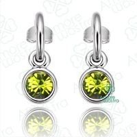 1Pcs/lot,Free shipping,18K Gold Plated Crystal Fashion Earring