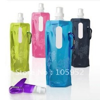 Hot sale 100% guaranteed 6 color 480LM New PE foldable water bottle,foldable sport bottle+EMS free shipping