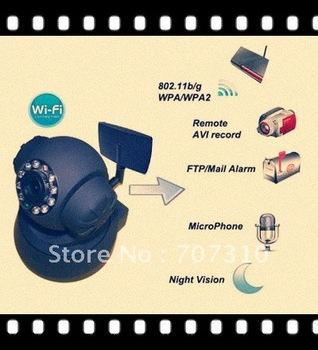 FREE SHIPPING WIFI Wireless Camera Webcam Web Camera 2-Audio 11 LED WIFI IR Nightvision  IP Camera