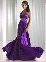 Free shipping sexy purple evening dress wholesale and retail