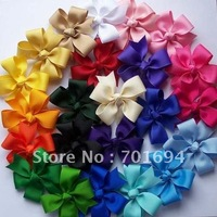 Wholesale - -baby girl hair bows attached clip 120 pieces/lot new hair bow grosgrain ribbon
