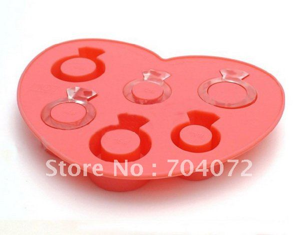 free shipping -6 cavities chocalate mould drink Champagne Ingredients celebration Novel mold love ring ice tray(China (Mainland))