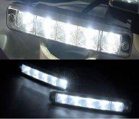 Aluminium housing ,12V/10W Auto 5LED LED Daytime Running lamp, LED Daytime Running light 2pcs/lot+DHL/EMS Free shipping