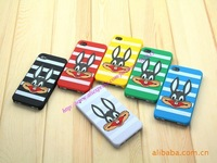 New design Rabbit silicone case for iPhone 4 4G retail packaging wholesale price 100pcs/lot+Free shipping