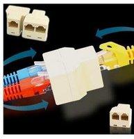 Hot sale 100pcs/lot 8P8C RJ45 Splitter 1 TO 2 LAN Ethernet Splitter Connector Adapter PC RJ45 CAT 5+Fulfillment shipping