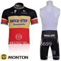 Ciclismo Maillot+culotte con tirantes 2010 QUICK STEP Size:S M L XL XXL XXXL