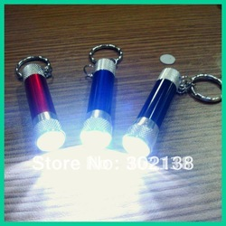 Hight quality mini 3 led torch keychain light key chain mix colors with dry battery(China (Mainland))