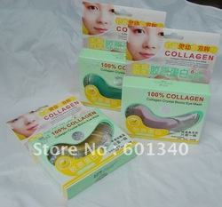 Free Shipping 100% Collagen Crystal Bionic Eye Mask Factory Direct Sale high quality fashion cosmetic(China (Mainland))