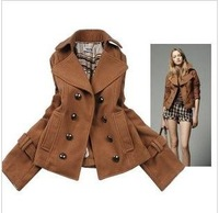 New winter women's Europe and the high quality double platoon to buckle short money NeDaYi wool coat