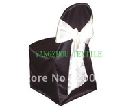black  satin  Chair Cover/banquet chair cover/wedding chair cover
