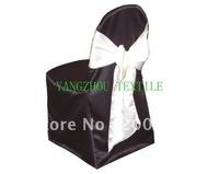 black  satin  Chair Cover/banquet chair cover/wedding chair cover