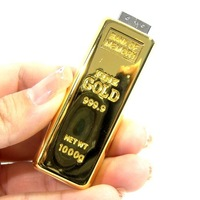 Gold bars USB Flash Drive 1GB 2GB 4GB 8GB 16GB 32GB 64GB usb2.0