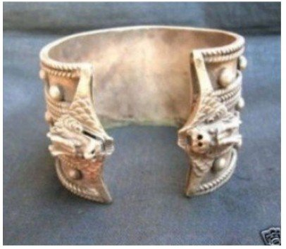 Fancy Miao Silver Men's Bracelet Cuff shipping free(China (Mainland))