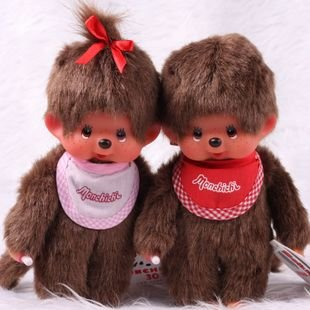 Candice guo! Super cute hot sale 30% off plush toy doll monchichi boy and girl good for gift a pair