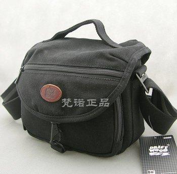 High-quality Men's shoulder bag waterproof canvas Camera bag thick canvas Messenger bag 760-2 black