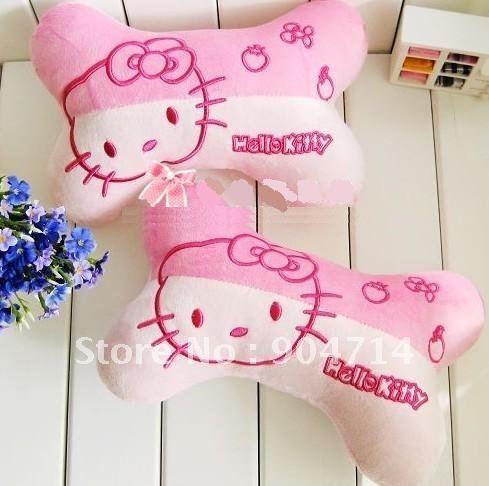 OLÁ KITTY caricatura almofada de pelúcia brinquedos / gatinho / gato travesseiro osso carro / Olá Kitty carro pescoço travesseiro(China (Mainland))
