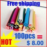 Hot sale 700canes/lot polymer clay nail art cane for nail art fruit canes and flower nail art cane+China post shipping
