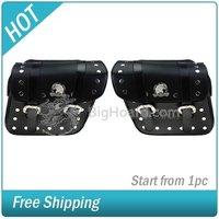 Black Motorcycle Pannier Saddlebags #004618-014