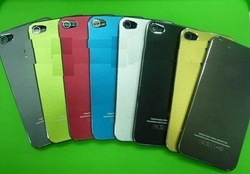 50PCS metal cover Matte Metal Housing for iPhone 4 high quality back cover for iphone 4G(China (Mainland))