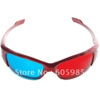 Re-useable Plastic Frame Resin Lens Anaglyphic Red + Blue 3D Glasses for Children Hot Sell