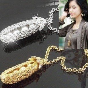 Free Shipping wholesale hot sell Jewelry.lovely PEA necklace.Korean style necklace.fashion jewelry.Ladies Jewelry.(China (Mainland))